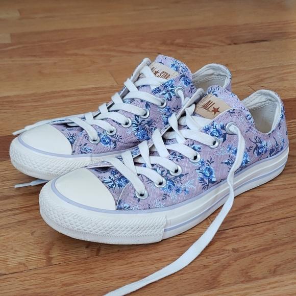 Converse Shoes   Purple Floral Converse